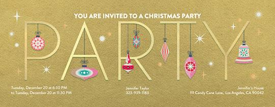 Invitations free ecards and party planning ideas from evite party ornaments filmwisefo Images